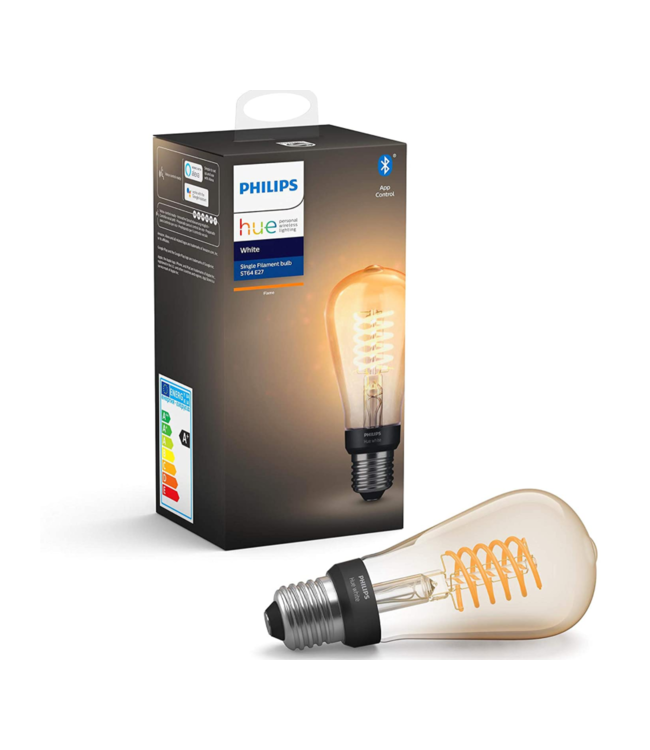 Philips HUE - Smart Personal Lightning Philips HUE White Flame  Single Filament Bulb ST64 E27 Fitting Pear