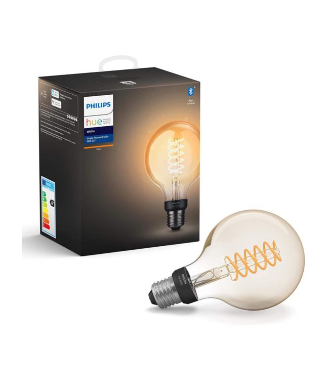 Philips HUE - Smart Personal Lightning Philips HUE White Flame  Single Filament Bulb G93 E27 Fitting Globe
