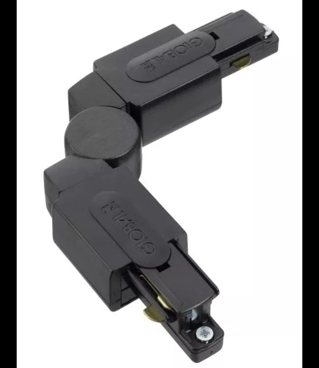1fase rail zwart - verstelbaar hoekstuk GB24-2