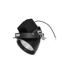 LED downlighter 30W banaanspot 3000K - zwart