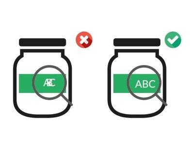 Verpakking etiketinspectie