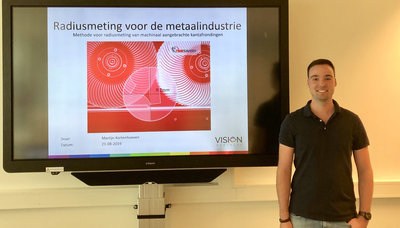 Martijn studeert af op 3D Machine Vision