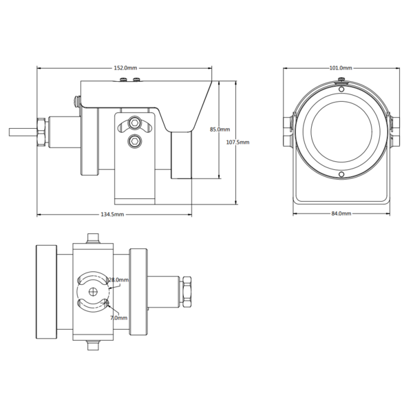 RVS (Anti-corrosie) IR Netwerk Camera IP68