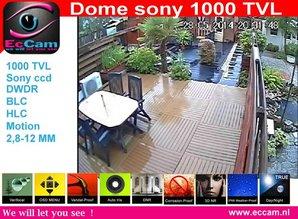 Dome camera met 720P 1000TVL