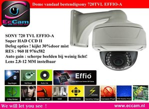 Dome camera met 720 TVL effio-A