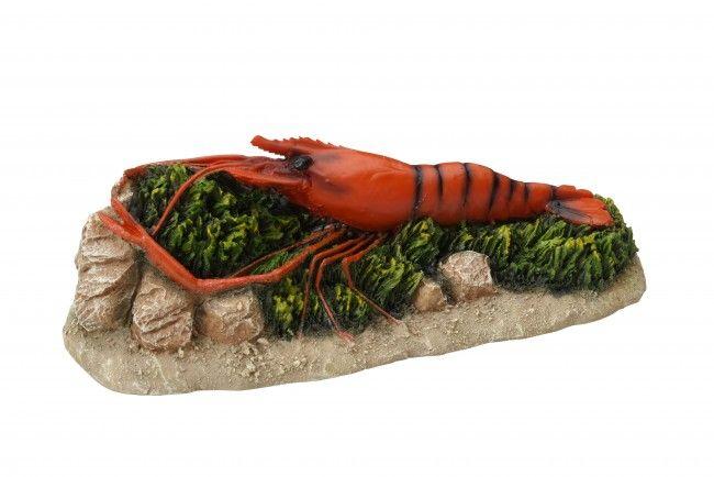 Aquarium decoratie Kreeft op rots