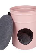Slaaphuis kat BUCKET MONO roze
