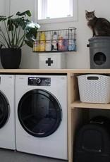 Slaaphuis kat BUCKET MONO donker grijs
