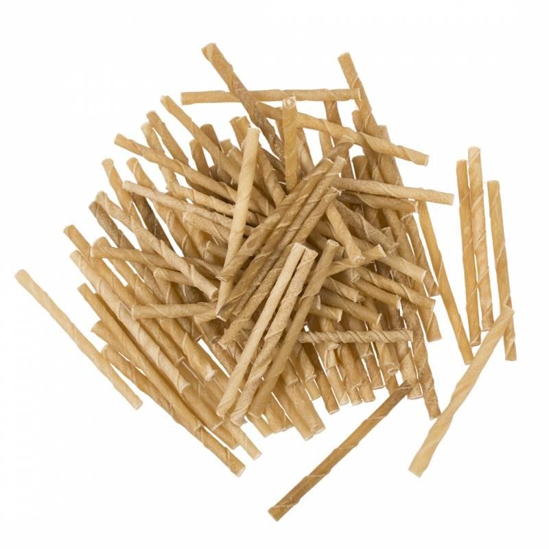 Rawhide twisted sticks, 100 stuks