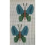 Vliegengordijn gekleurde vlinders-hulzen
