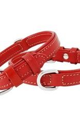 Halsband Leer Double. In 10 lengtes en 5 kleuren.