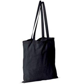 Zwarte stoffen tas