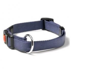 Nylon verstelbare halsband. In 4 maten en 5 kleuren.