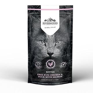 Riverwood Kitten, Kip & Eend met Zalm. 300 gram