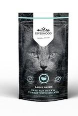 Riverwood Large Breed, Eend & Kalkoen met Kip. 300 gram.