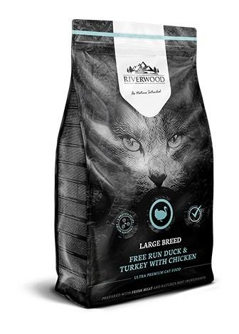 Riverwood Large Breed, Eend & Kalkoen met Kip. 2 kg. Nu: 2e zak, halve prijs!