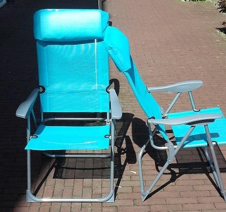 Tuinstoel, standenstoel, grijs of blauw