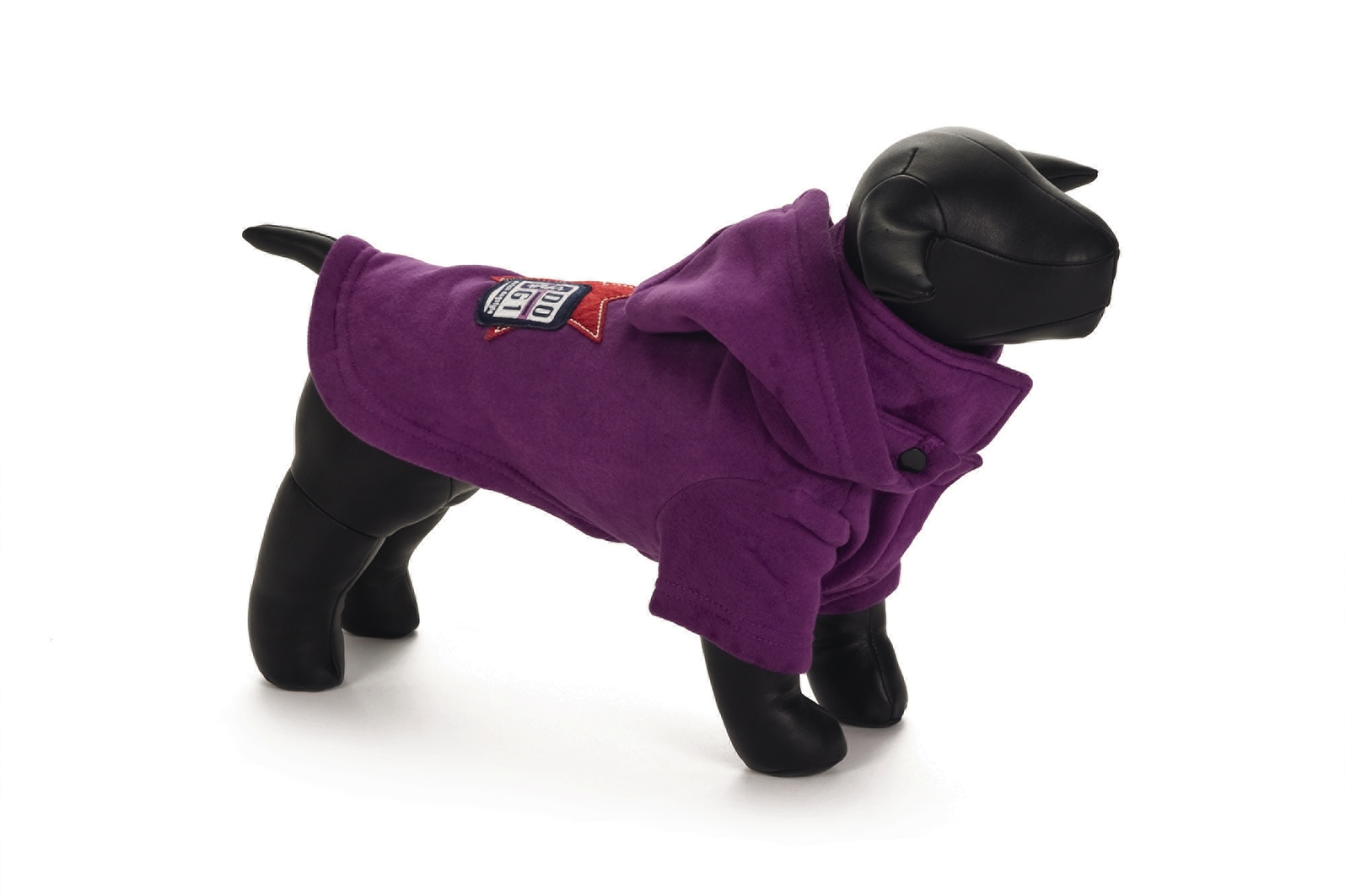 Hondensweater Hoodie Dog paars 55 cm