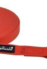 Petlando sleeplijn 5 meter rood, 15 mm breed.