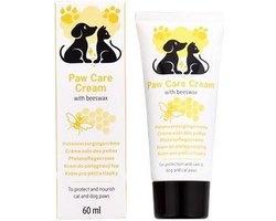 Pootverzorging voor katten en honden, 60 ml crème met bijenwas voor pootbescherming