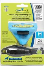 Furminator Furflex Deshedding Tool M - Inclusief Handvat - Blauw - 13 x 4.5 x 18 cm
