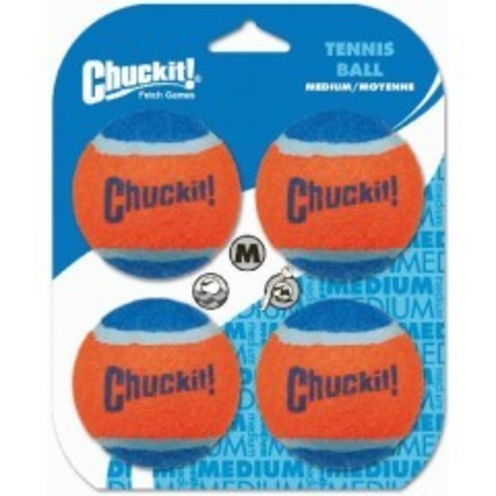 Chuckit Chuckit Tennisball medium. 4 pack