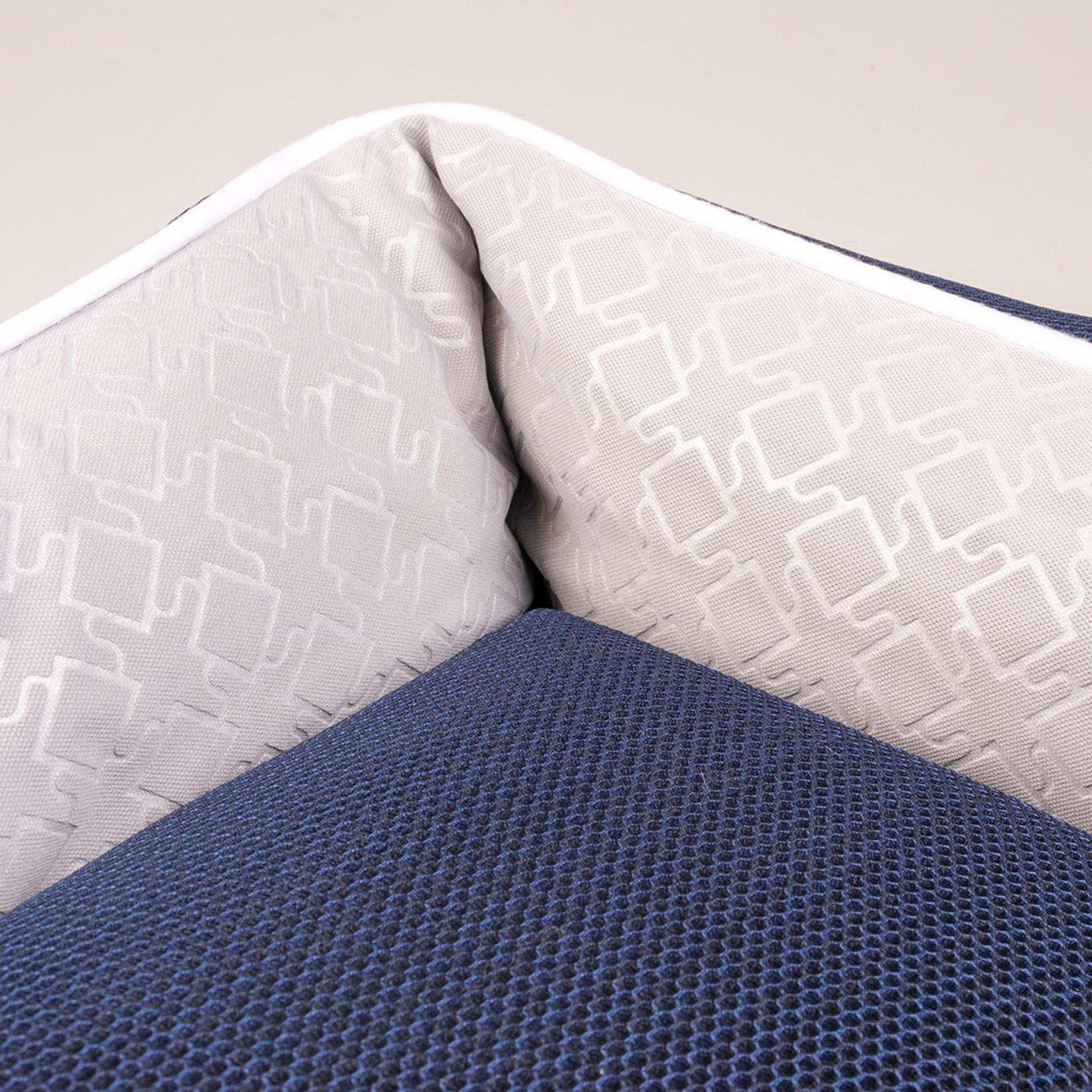 Airmesh mand. Blauw/grijs 85 x70 cm