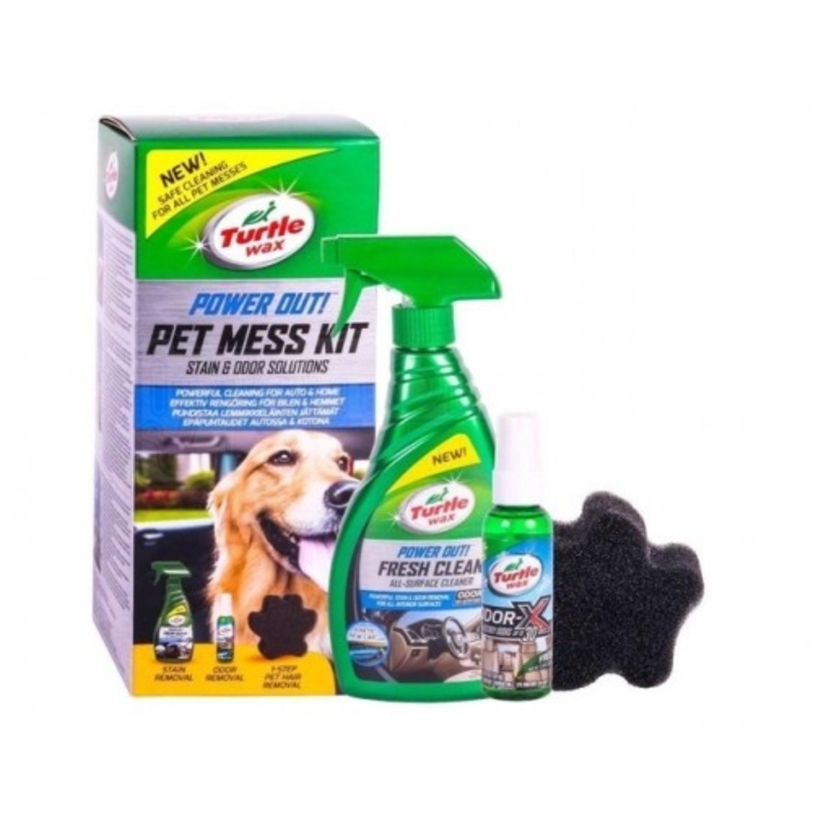 Turtle Wax Pet Mess Kit Car Home Vlek- en geurverwijderaar voor katten en honden