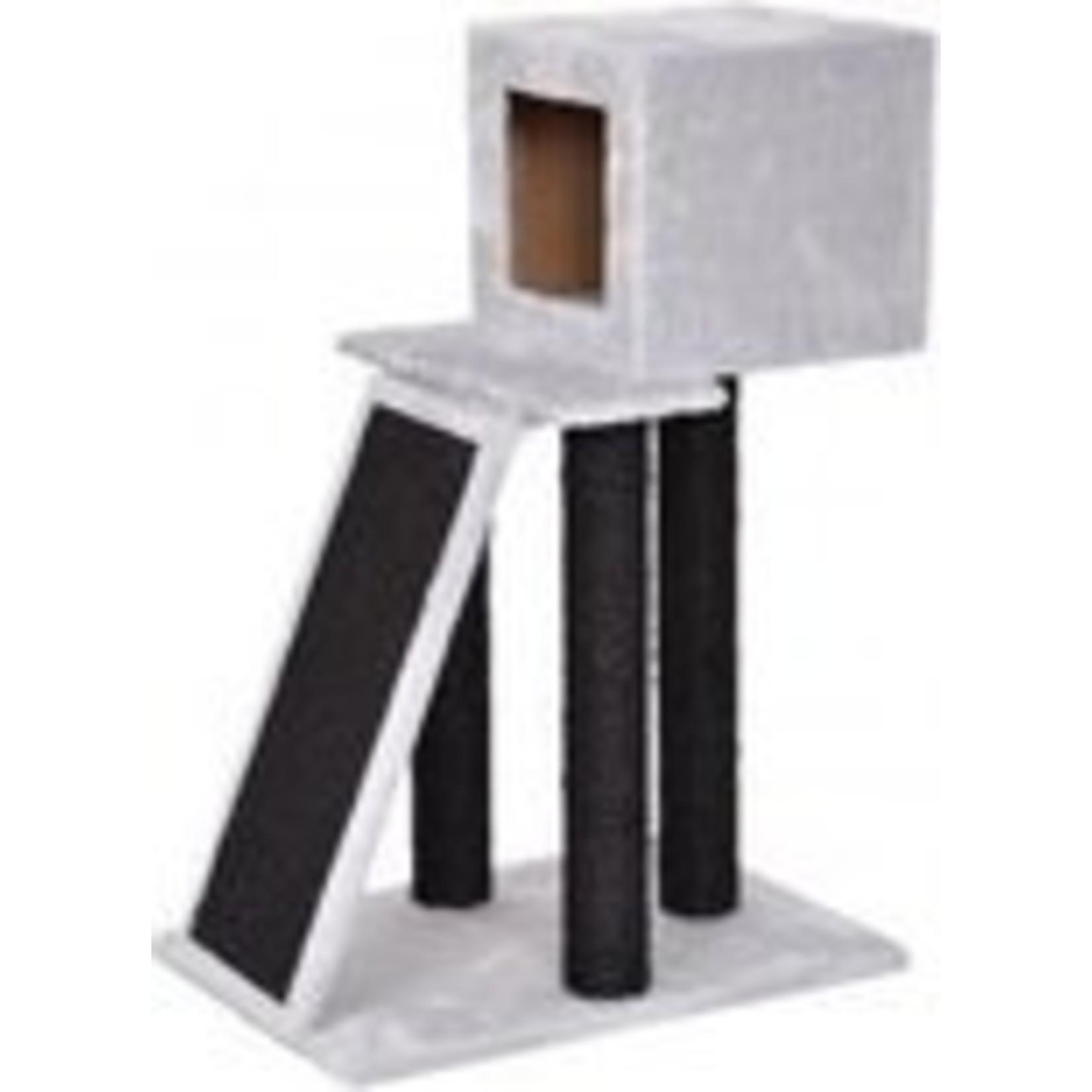 Krabpaal Antoine grijs/zwart. 40x56x83cm