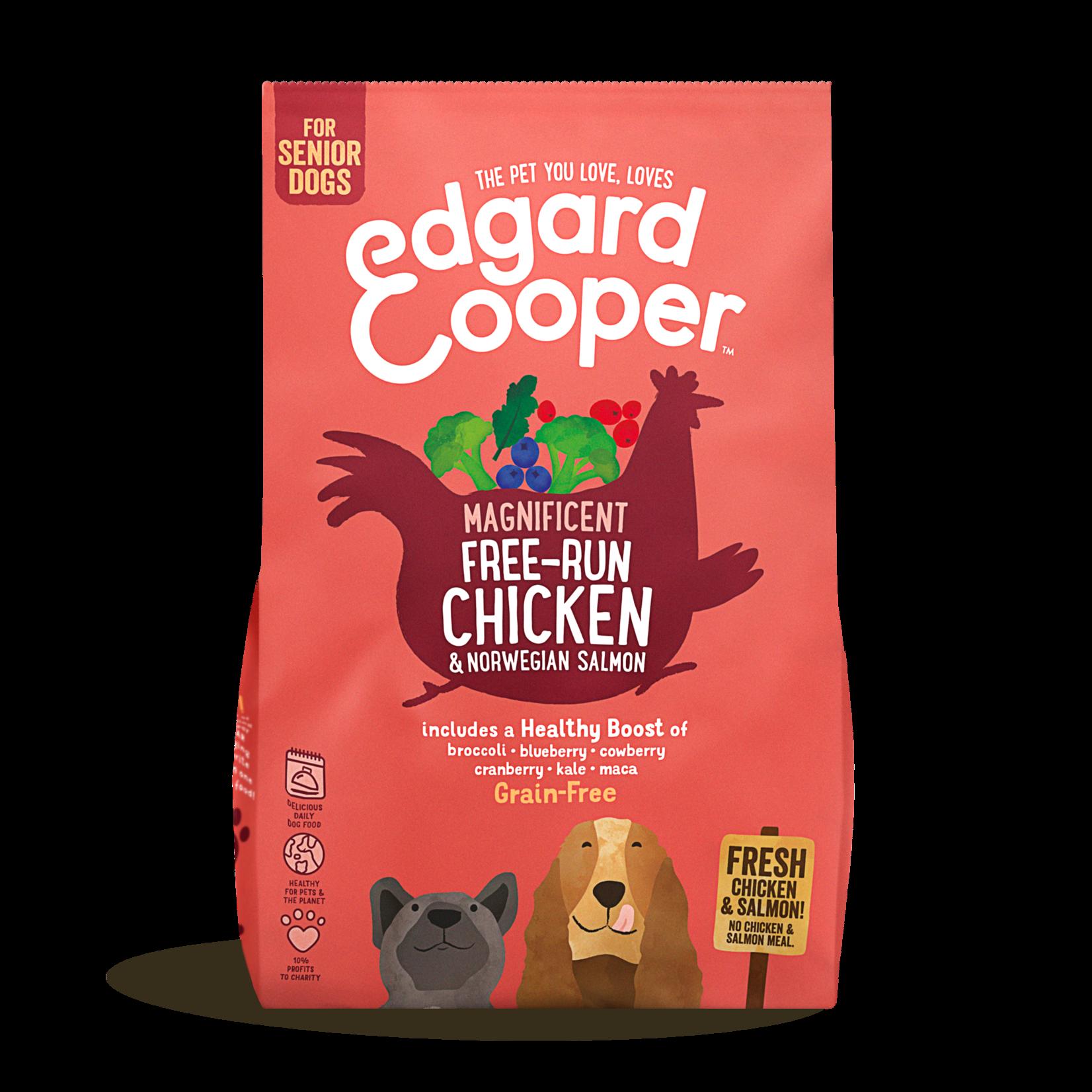 Edgard&Cooper Free-Run Chicken Senior Kip&Zalm&Broccoli 700 g Graanvrij