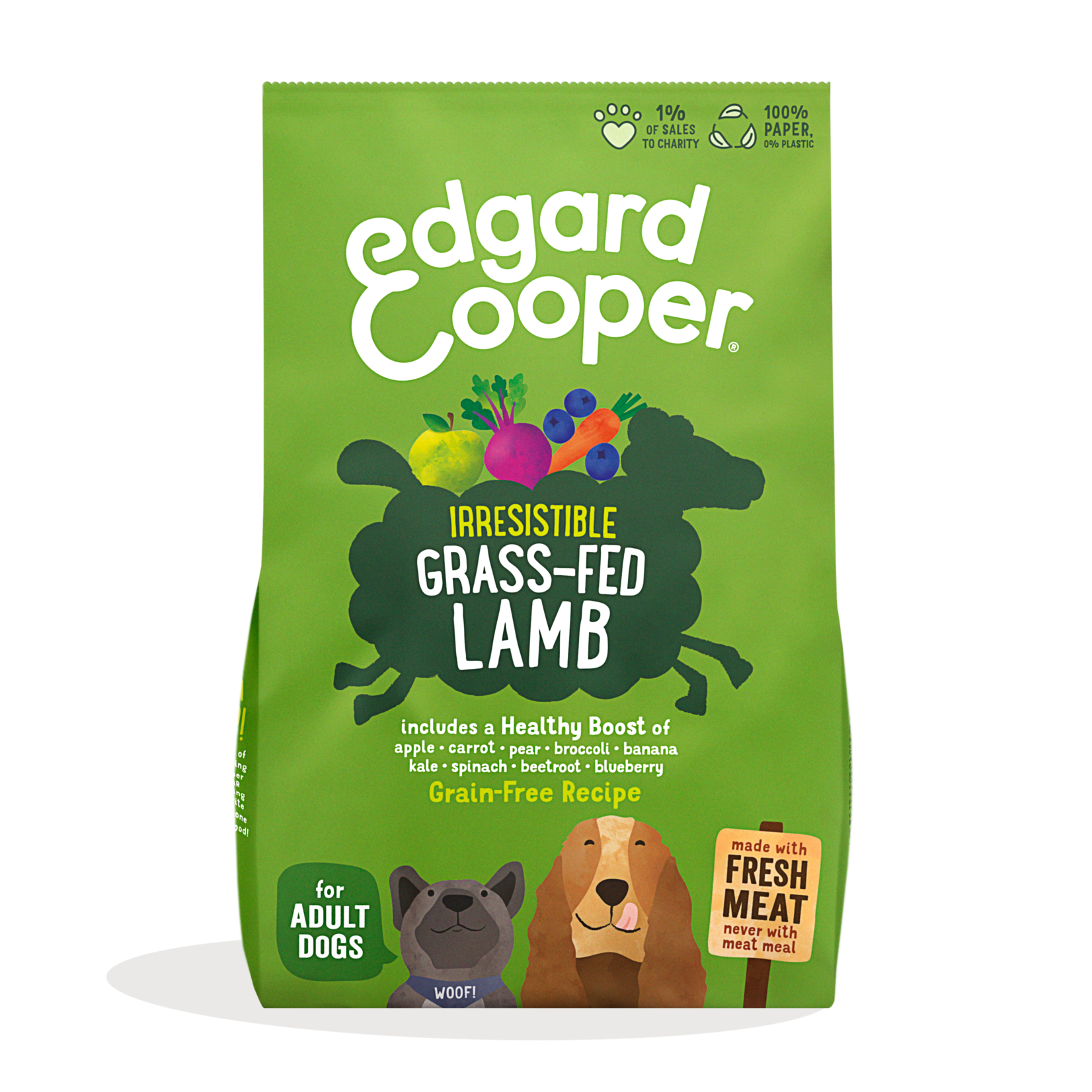 Edgard&Cooper Irresistible Grass-Fed Lamb Adult Lam&Appel&Wortel 700 gram