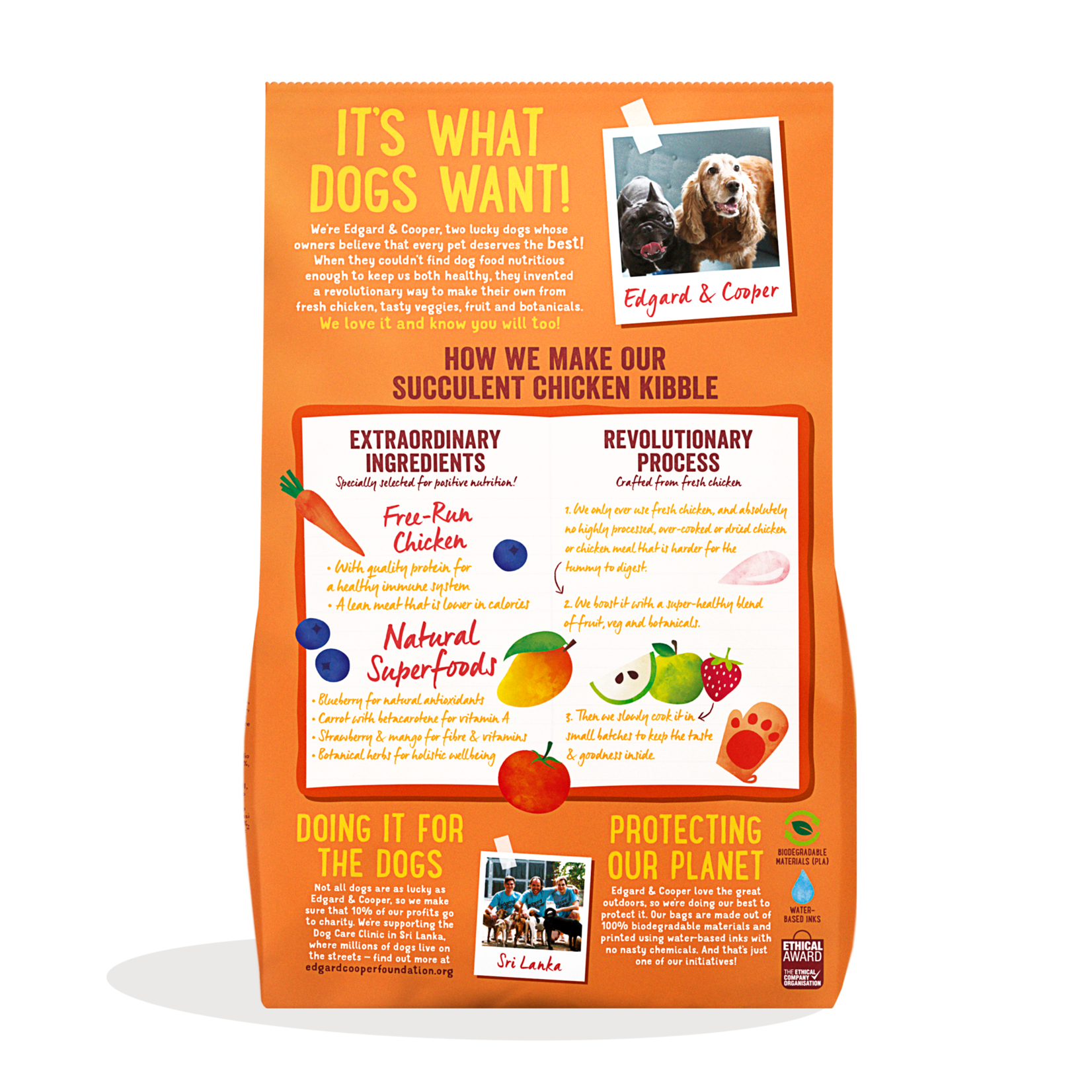 Edgard&Cooper Free-Run Chicken Adult Kip&Mango&Bessen 700 gram