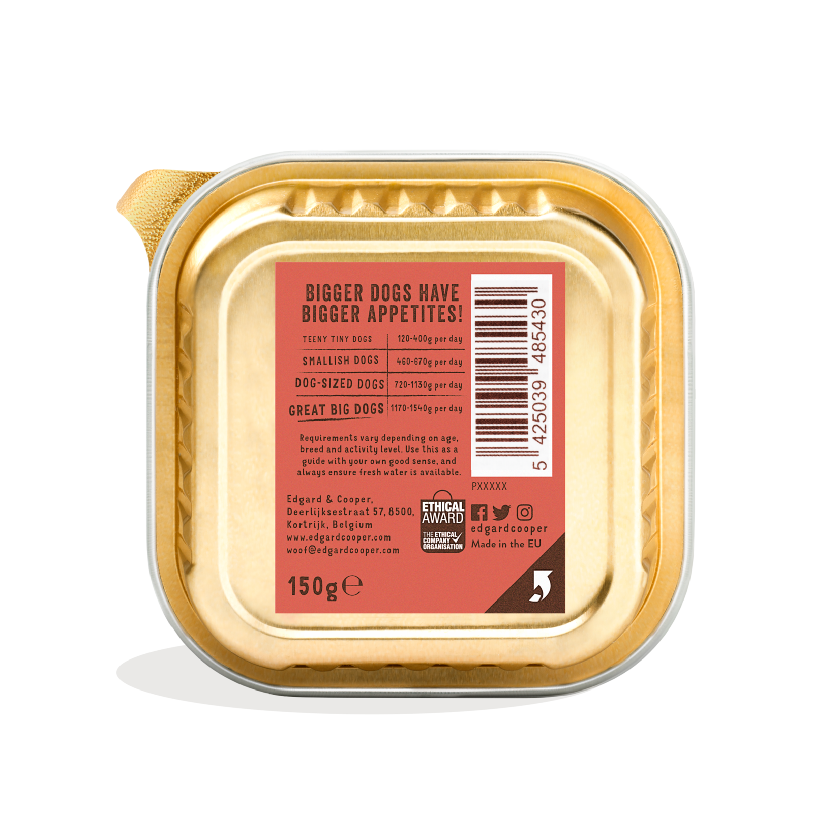 Edgard&Cooper Kuipje Senior Kip-Zalm  150 gram Graanvrij