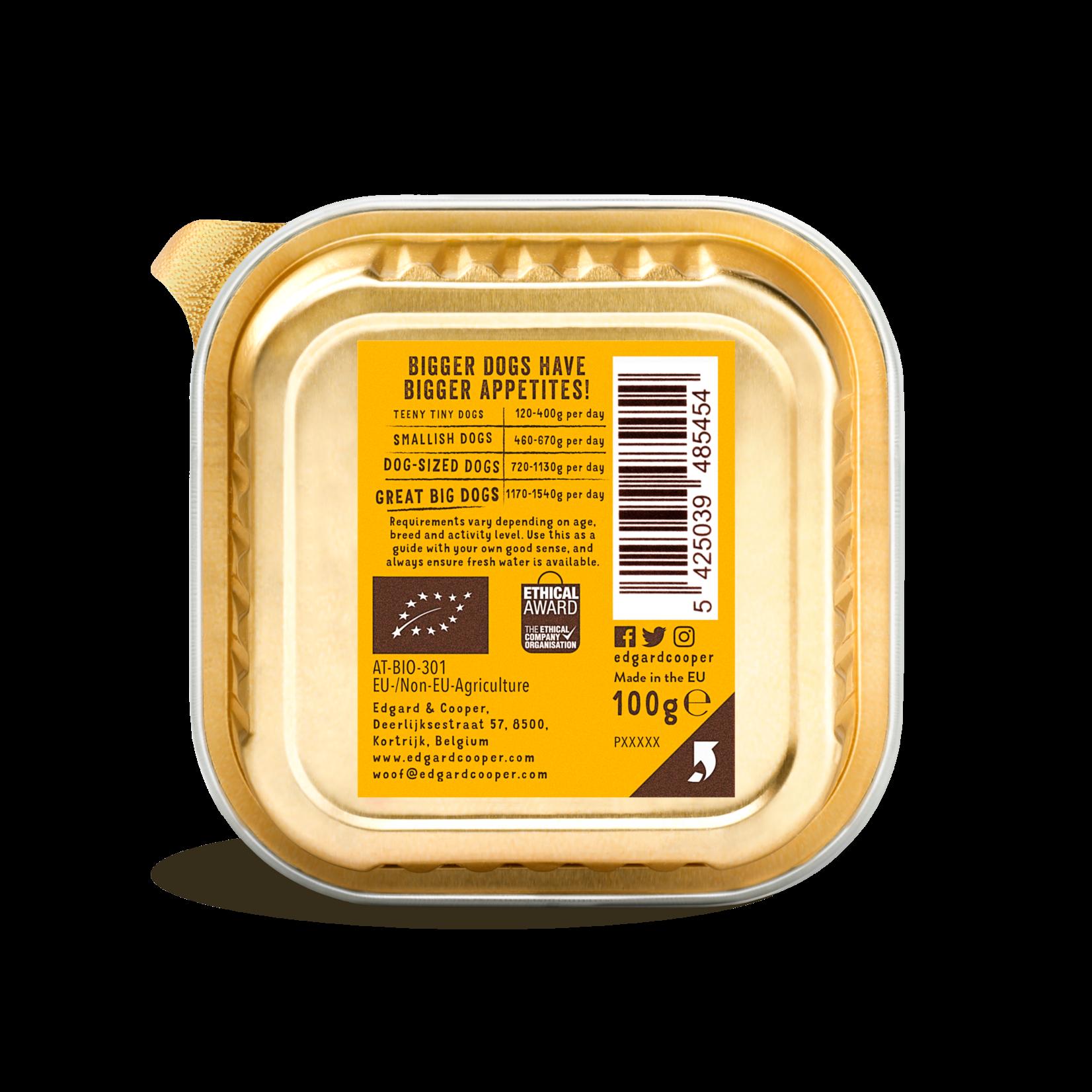 Edgard&Cooper Kuipje Adult Biologisch Kalkoen 100 gram Graanvrij