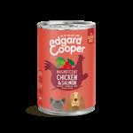 Edgard&Cooper Blik Senior Kip en Zalm. 400 gram