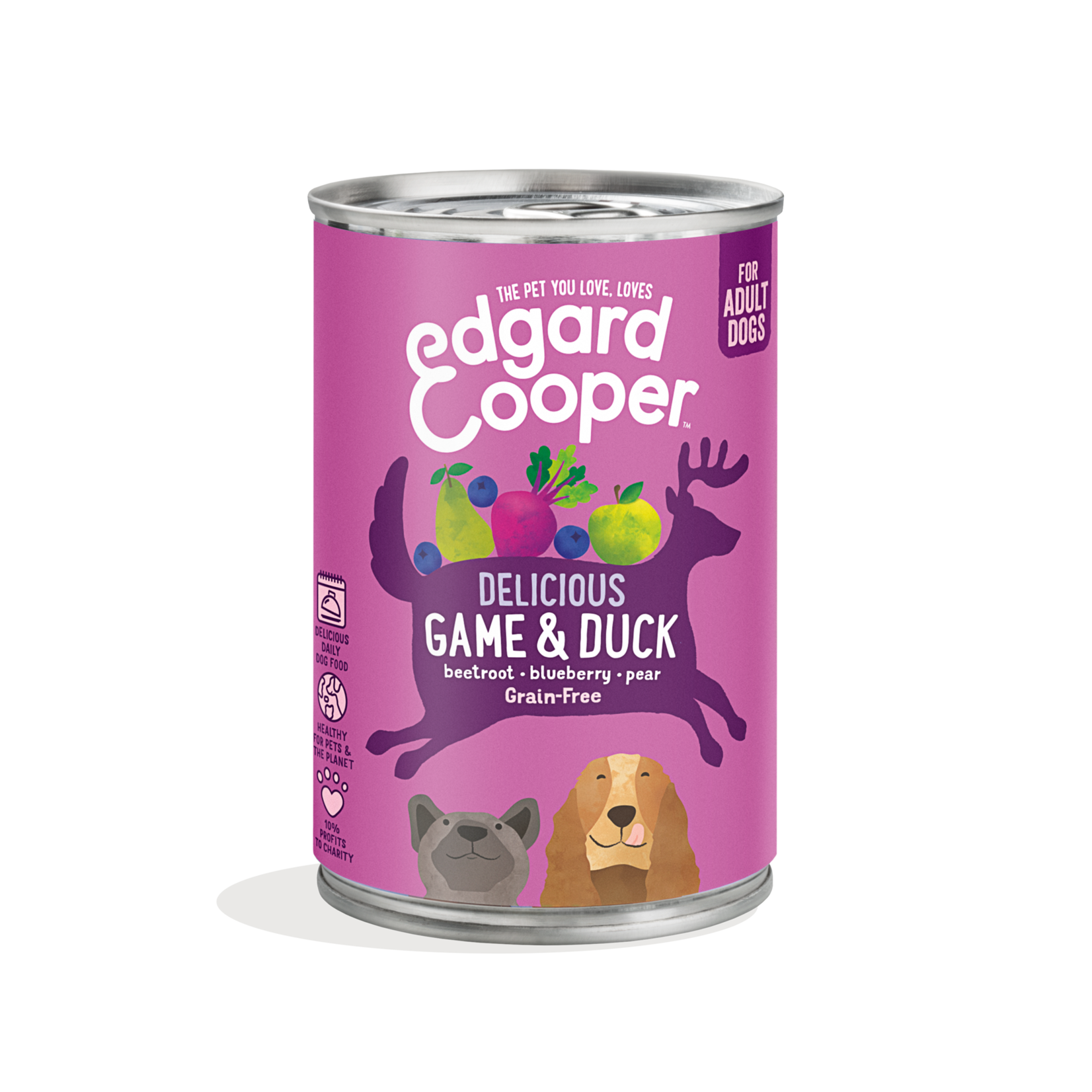 Edgard&Cooper Blik Adult Wild en Eend 400 gram Graanvrij
