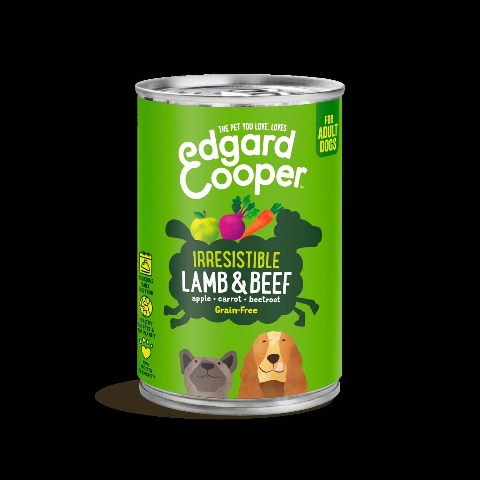 Edgard&Cooper Blik Adult Lam en Rund 400 gram Graanvrij
