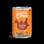 Edgard&Cooper Blik Adult Kip en Kalkoen 400 gram