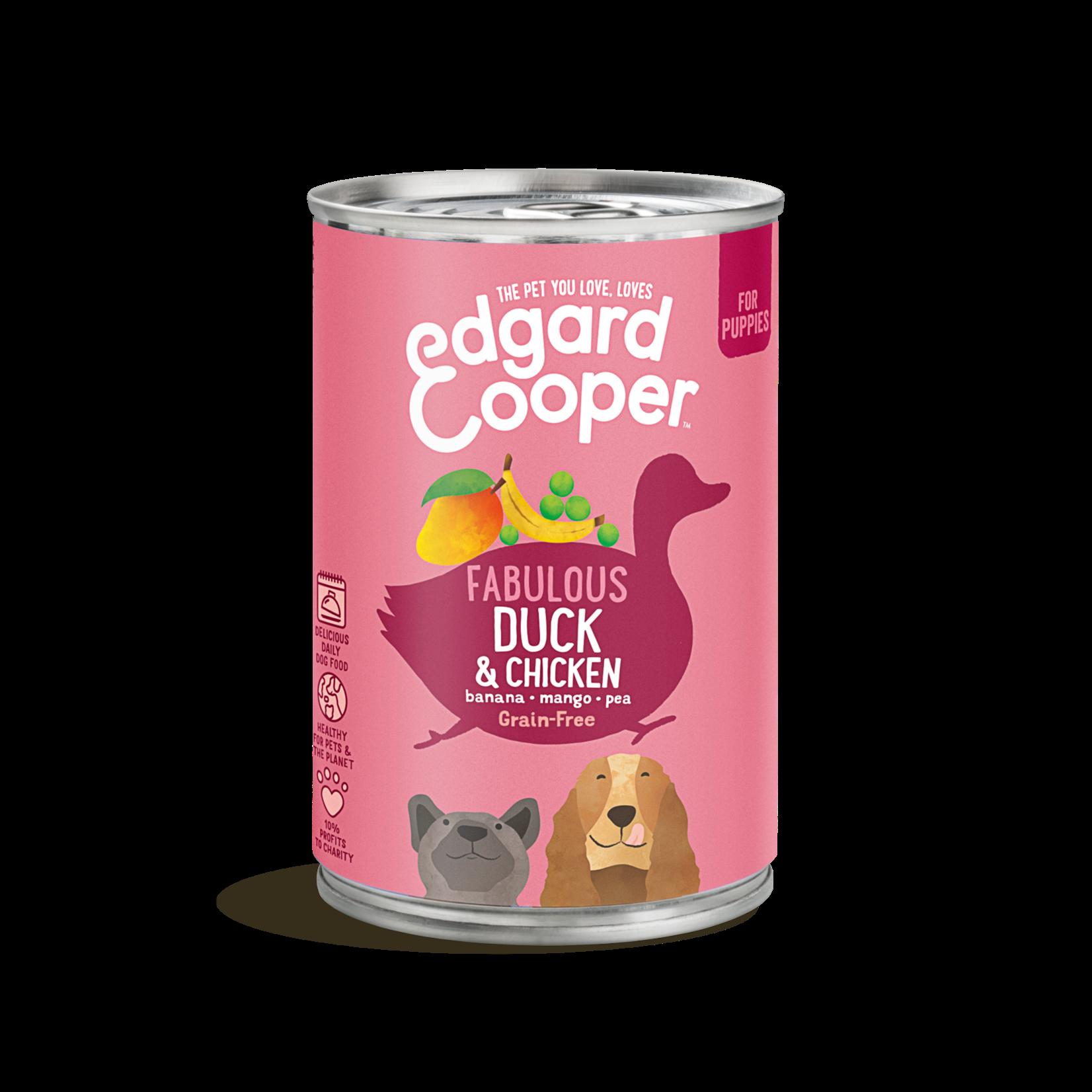 Edgard&Cooper Blik Puppy Eend en Kip 400 gram Graanvrij