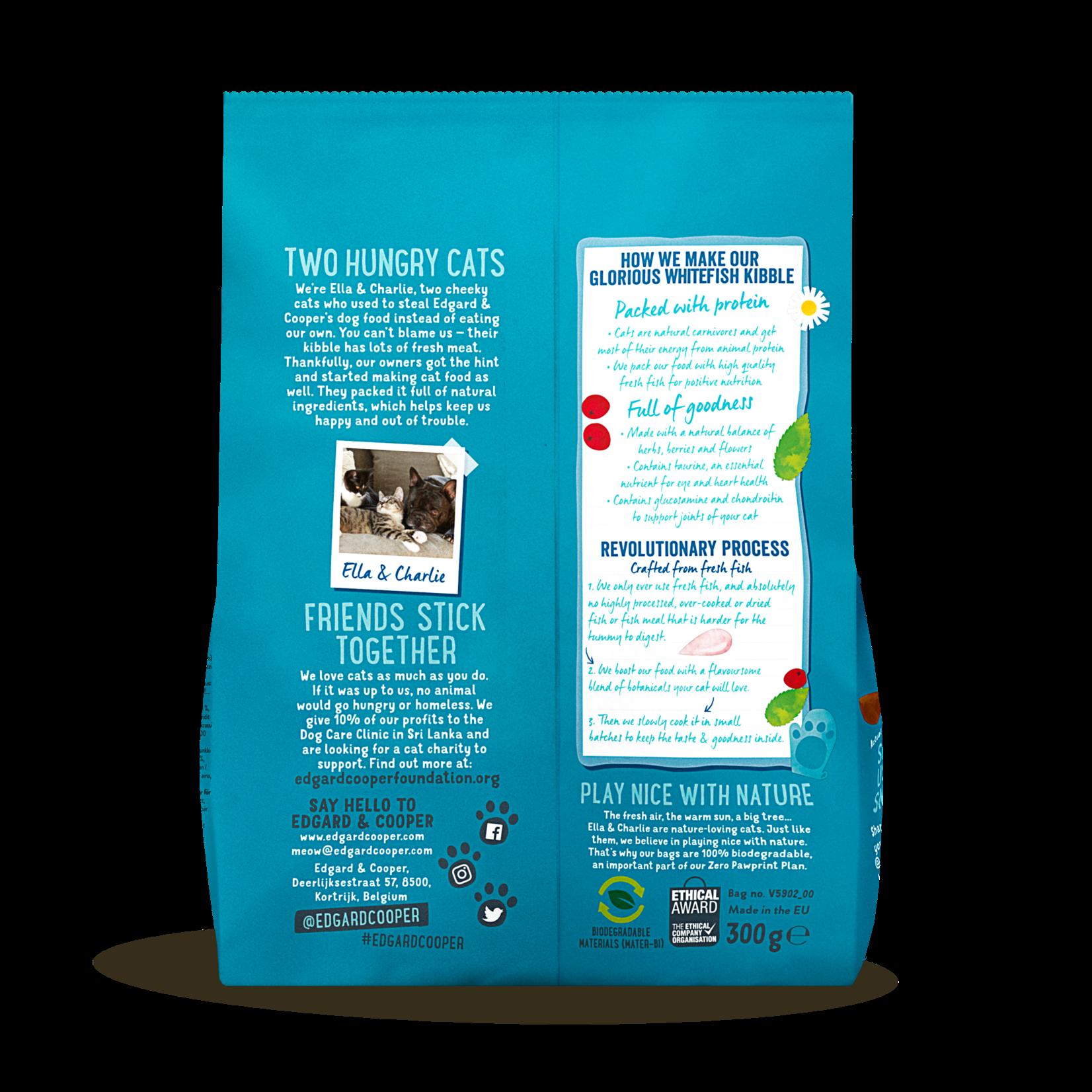 Edgard&Cooper Adult Witvis - Kattenvoer 300 g