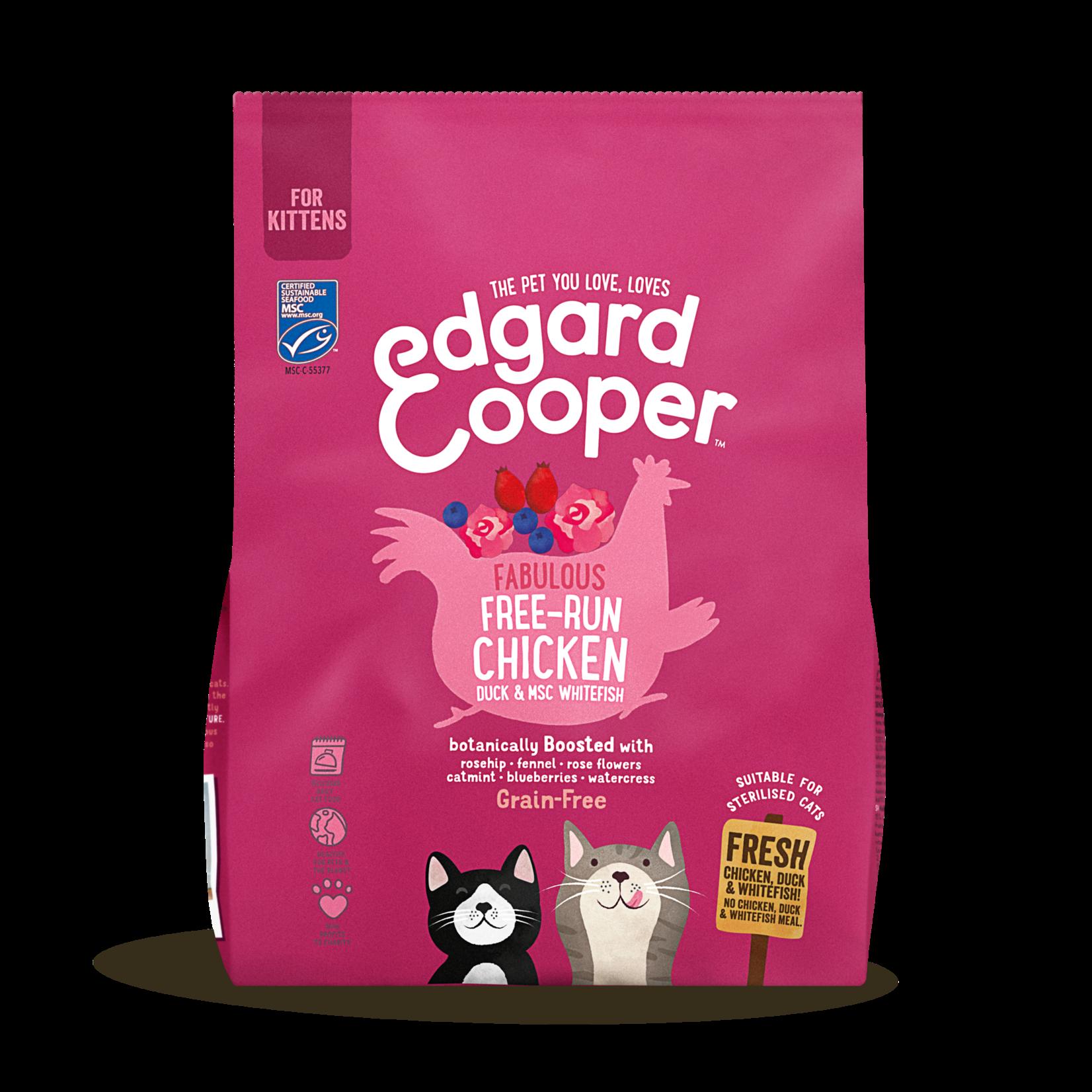 Edgard&Cooper Kitten Kip&Eend&Witvis - Kattenvoer 300 g