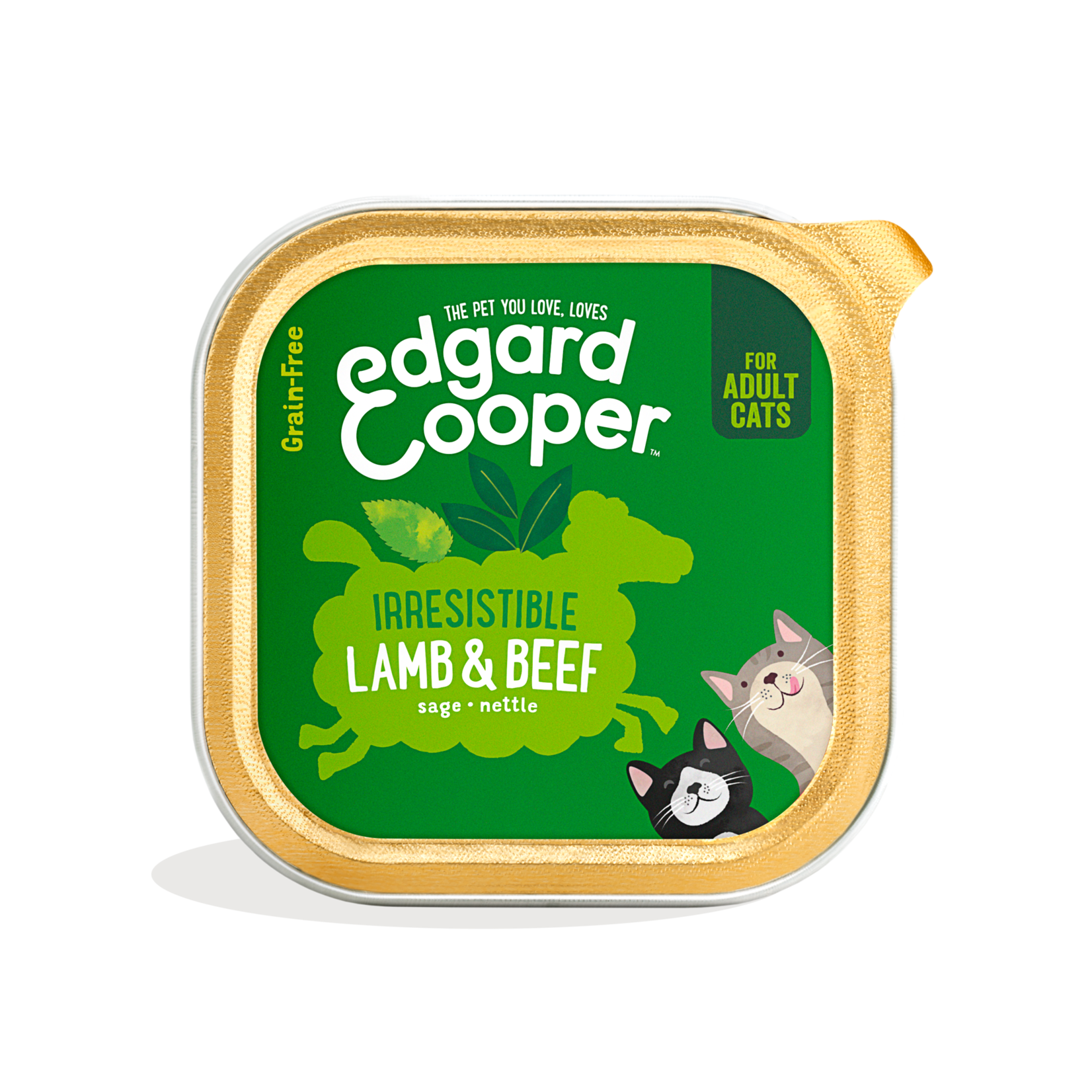 Edgard&Cooper Kuipje Kat Adult 85 gram Lam&Rund