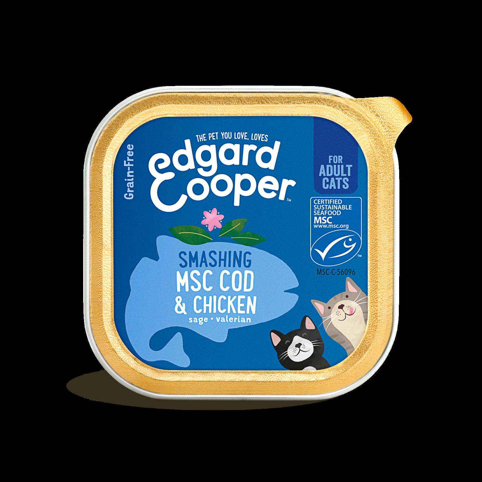 Edgard&Cooper Kuipje Kat Adult 85 gram Kabeljouw&Ki