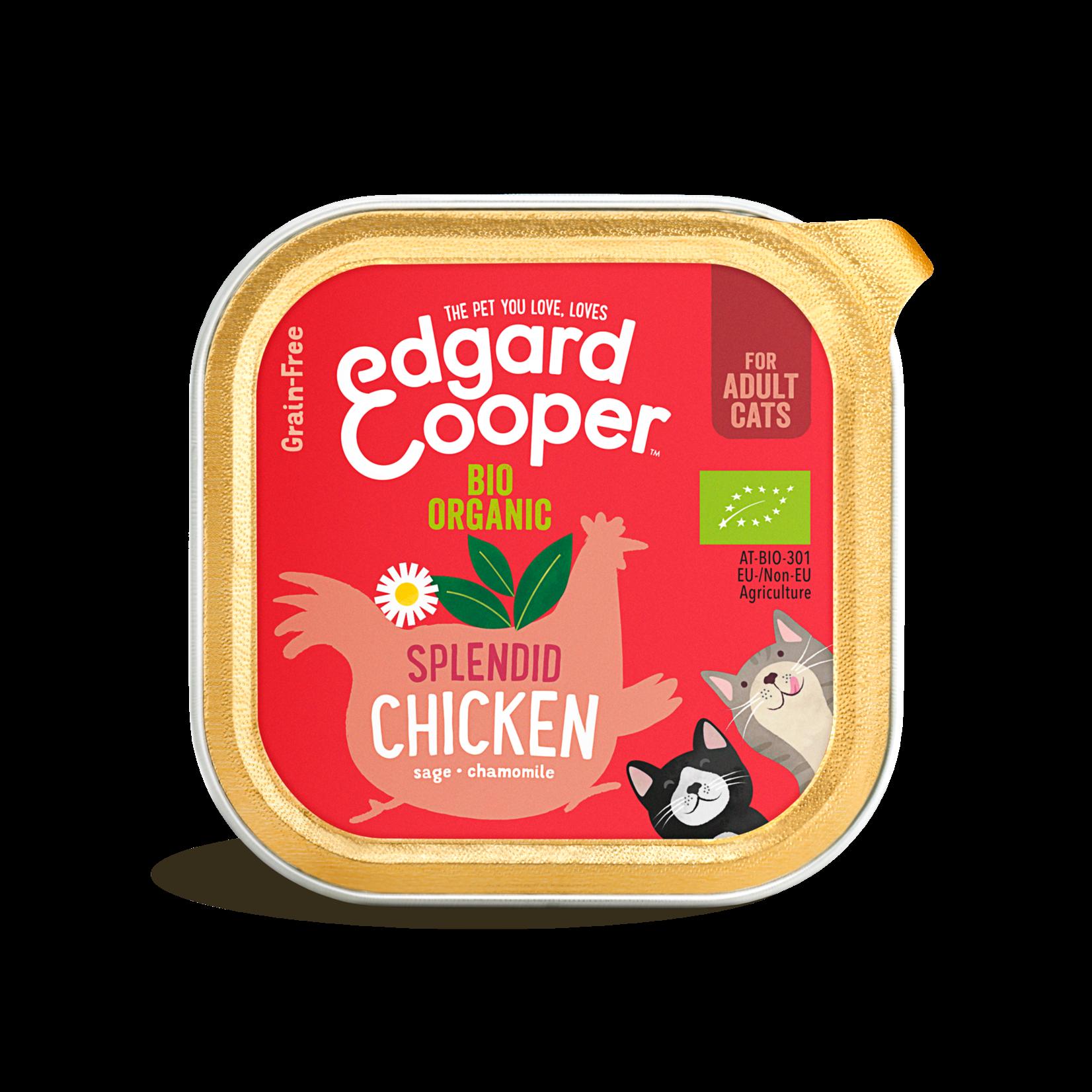 Edgard&Cooper Kuipje Kat Adult Biologisch 85 gram Kip