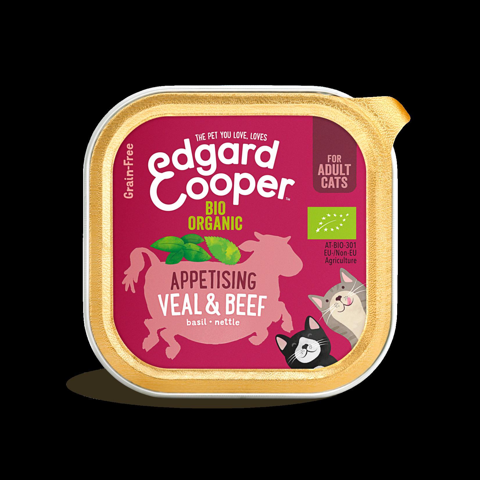 Edgard&Cooper Kuipje Kat Adult Biologisch 85 gram Rund&Kalfsvlees