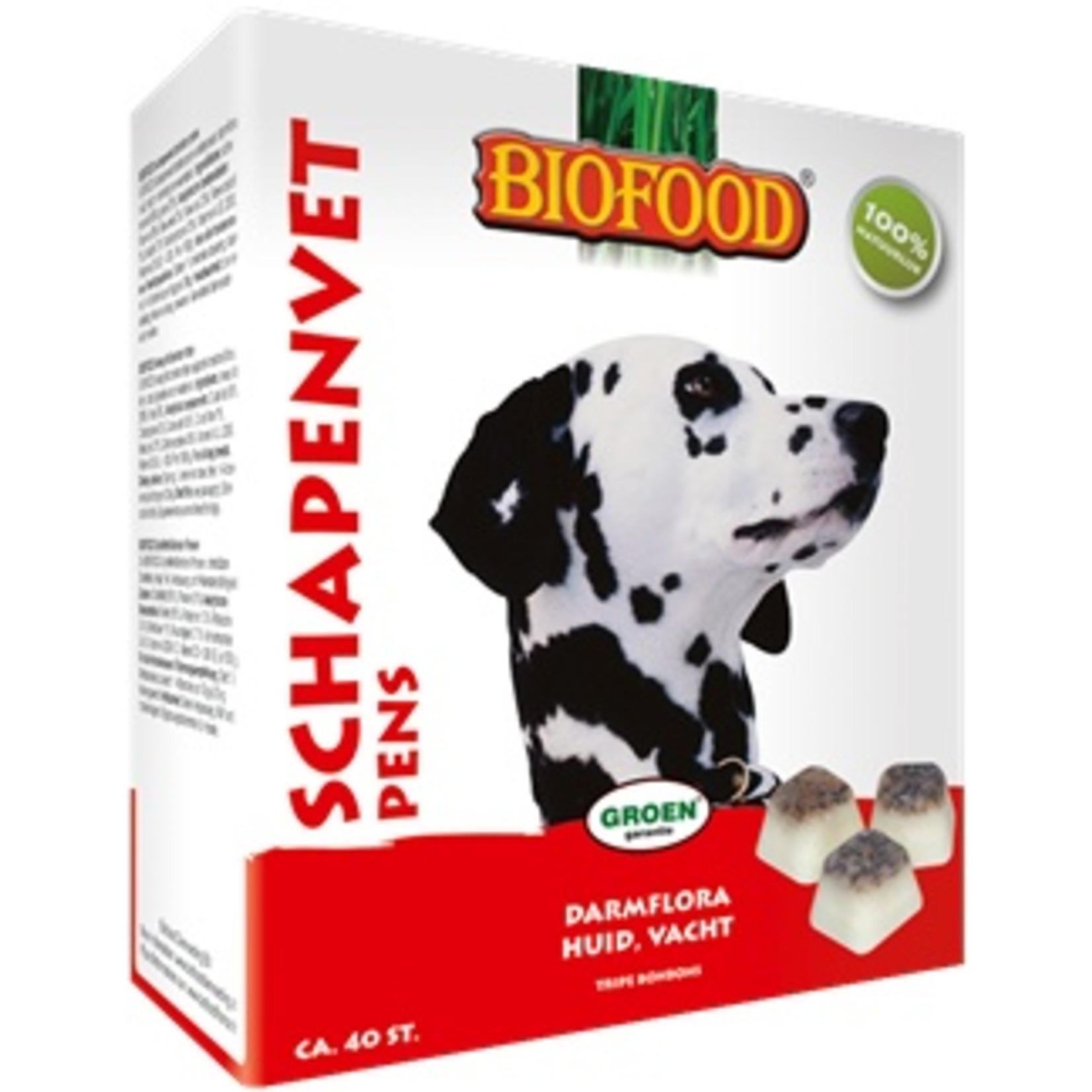 Biofood Biofood schapenvet bonbons pens