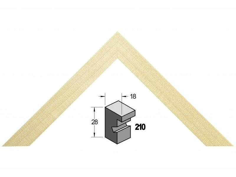 Barth Blank massief populieren houten Barth wissellijst 210-777