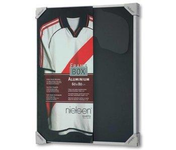 t-shirt lijst Nielsen Framebox II - 60 x 80 cm zilver
