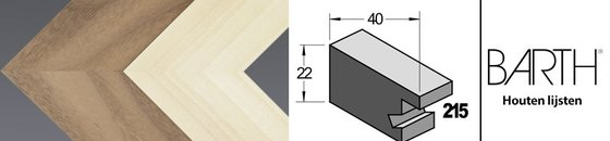 Wissellijst Barth 215 - 40 mm breed
