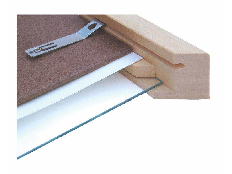 Barth Box frame Barth 3D 10 mm diepe lijst 810-777 blank hout